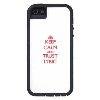 Keep Calm and TRUST Lyric iPhone 5 Cases