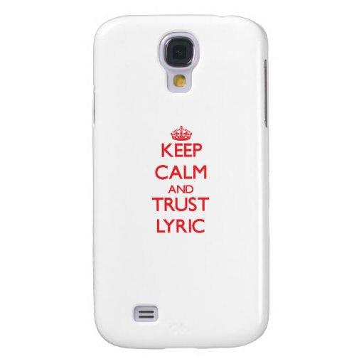 Keep Calm and TRUST Lyric HTC Vivid / Raider 4G Case