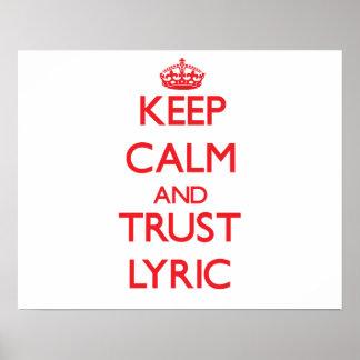 Keep Calm and TRUST Lyric Print
