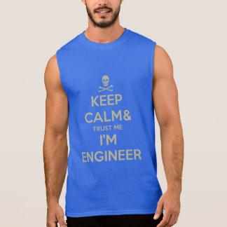 Keep calm and trust me I am engineer Sleeveless Shirt