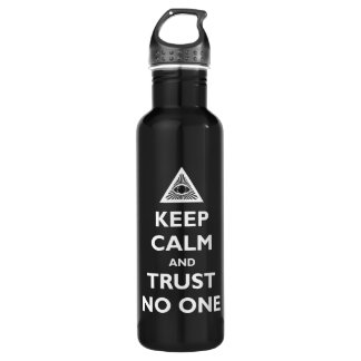 Keep Calm and Trust No One 710 Ml Water Bottle