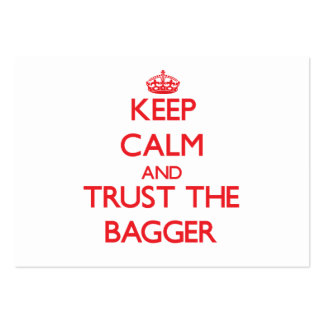 Keep Calm and Trust the Bagger Pack Of Chubby Business Cards