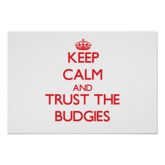 Keep calm and Trust the Budgies Print