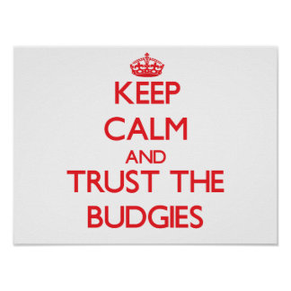Keep calm and Trust the Budgies Posters