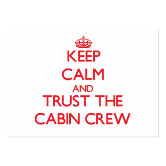 Keep Calm and Trust the Cabin Crew Business Cards