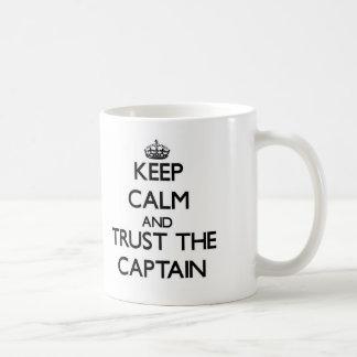 Keep Calm and Trust the Captain Classic White Coffee Mug