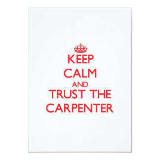 Keep Calm and Trust the Carpenter Announcement