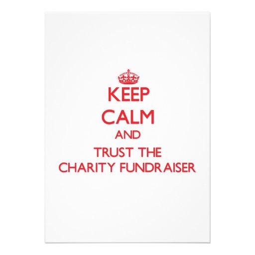Keep Calm and Trust the Charity Fundraiser Custom Invite