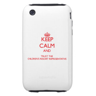 Keep Calm and Trust the Children s Resort Represen iPhone 3 Tough Cover