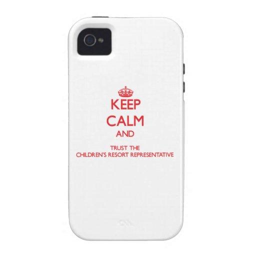 Keep Calm and Trust the Children's Resort Represen iPhone 4/4S Cases