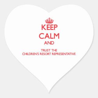 Keep Calm and Trust the Children's Resort Represen Heart Sticker