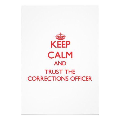 Keep Calm and Trust the Corrections Officer Cards