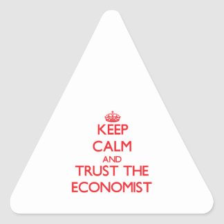 Keep Calm and Trust the Economist Stickers