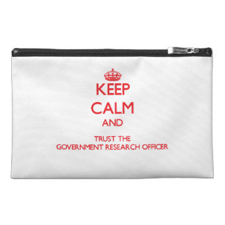 Keep Calm and Trust the Government Research Office Travel Accessories Bag