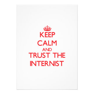 Keep Calm and Trust the Internist Custom Invite