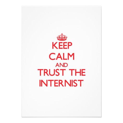 Keep Calm and Trust the Internist Custom Invite