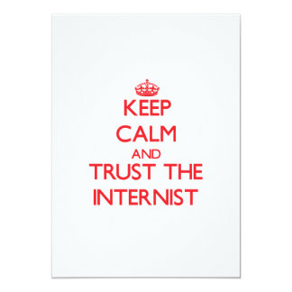 "Keep Calm and Trust the Internist 5"" X 7"" Invitation Card"