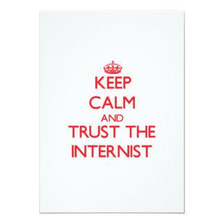 Keep Calm and Trust the Internist 13 Cm X 18 Cm Invitation Card