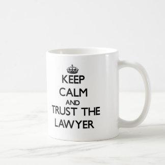 Keep Calm and Trust the Lawyer Basic White Mug