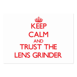 Keep Calm and Trust the Lens Grinder Business Cards