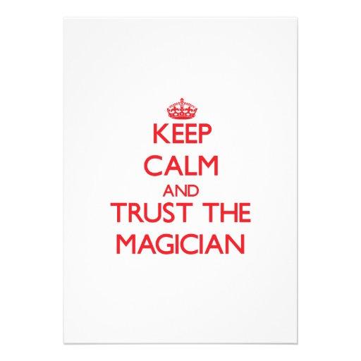 Keep Calm and Trust the Magician Custom Invite