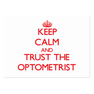 Keep Calm and Trust the Optometrist Business Card