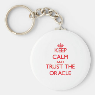 Keep Calm and Trust the Oracle Basic Round Button Key Ring