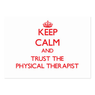 Keep Calm and Trust the Physical Therapist Business Card Template