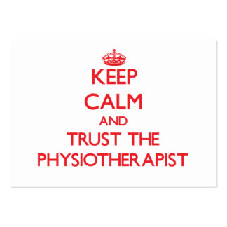 Keep Calm and Trust the Physiotherapist Business Card Templates
