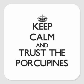 Keep calm and Trust the Porcupines Square Sticker