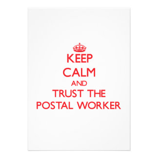 Keep Calm and Trust the Postal Worker Card