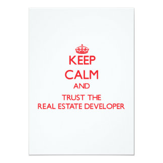 Keep Calm and Trust the Real Estate Developer Custom Invitation