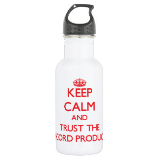 Keep Calm and Trust the Record Producer 532 Ml Water Bottle