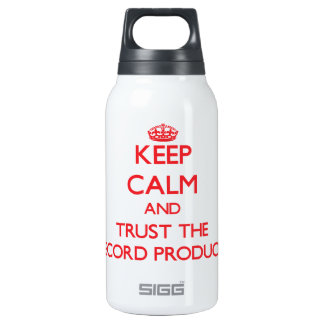 Keep Calm and Trust the Record Producer 10 Oz Insulated SIGG Thermos Water Bottle