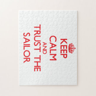 Keep Calm and Trust the Sailor Jigsaw Puzzle