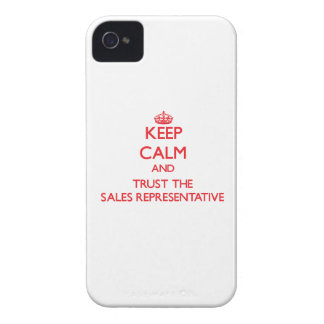 Keep Calm and Trust the Sales Representative iPhone 4 Covers