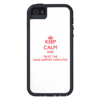 Keep Calm and Trust the Sales Support Executive iPhone 5 Cover