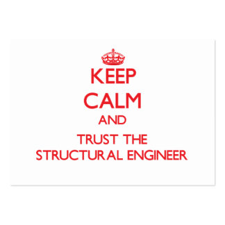 Keep Calm and Trust the Structural Engineer Business Card