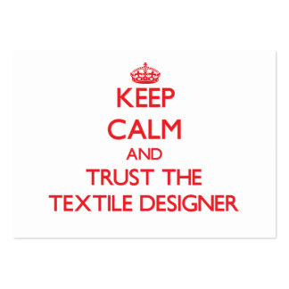 Keep Calm and Trust the Textile Designer Business Card Template