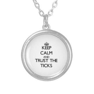 Keep calm and Trust the Ticks Pendant