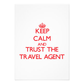 Keep Calm and Trust the Travel Agent Custom Invite