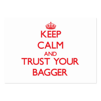 Keep Calm and Trust Your Bagger Large Business Cards (Pack Of 100)