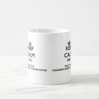 Keep Calm and Trust Your Children's Resort Represe Basic White Mug