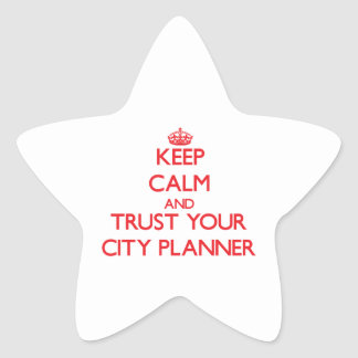 Keep Calm and Trust Your City Planner Star Sticker