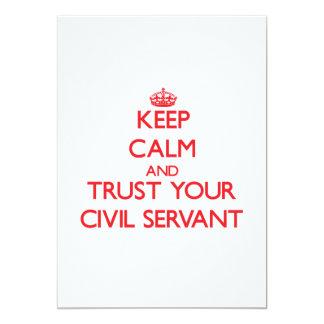 Keep Calm and trust your Civil Servant 13 Cm X 18 Cm Invitation Card