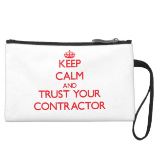 Keep Calm and trust your Contractor Wristlet Purses