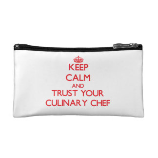 Keep Calm and trust your Culinary Chef Makeup Bag