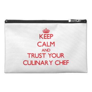 Keep Calm and trust your Culinary Chef Travel Accessory Bag