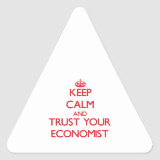 Keep Calm and Trust Your Economist Stickers