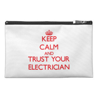 Keep Calm and trust your Electrician Travel Accessories Bag